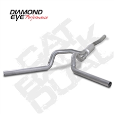 "Diamond Eye K4124A 4"" Cat Back Dual Side Aluminized Exhaust System for 2001-2007 GM 6.6L Duramax LB7, LLY, LBZ"