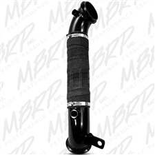 "MBRP GM8427 3"" Black Coated Aluminized Turbo Down Pipe for 2011-2015 GM 6.6L Duramax LML"
