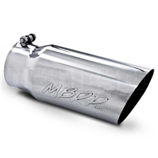 "MBRP T5052 5"" Single Wall Angle Cut Stainless T304 Exhaust Tip"