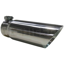"MBRP T5114 3.5"" Dual Wall Angle Cut Stainless T304 Exhaust Tip"