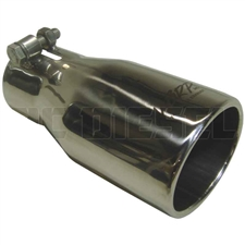 "MBRP T5116 3.75"" Oval Rolled Edge Straight Cut Stainless T304 Exhaust Tip"