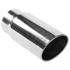 "MagnaFlow 35233 6"" Round Double Wall Rolled Edge Angle Cut Exhaust Tip"