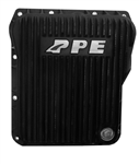 PPE Diesel 128052020 Black Low Profile Aluminum Transmission Pan 2001-2010 GM 6.6L Duramax