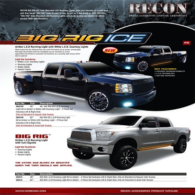 Recon 26414x Running Light Amber 60 Inch Big Rig Ice With
