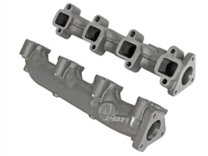 aFe Power 46-40024 BladeRunner Ported Ductile Iron Exhaust Manifolds for 2001-2016 GM 6.6L Duramax LB7, LLY, LBZ, LMM, LML