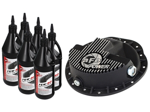 aFe Power 46-70042-WL Pro Series Front Differential Cover Machined Fins with Gear Oil for 2003-2012 Dodge 5.9L, 6.7L Cummins