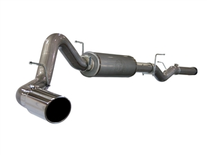 "aFe Power 49-44002 Large Bore-HD 4"" 409 Stainless Steel Cat-Back Exhaust System for 2006-2007 GM 6.6L Duramax LLY, LBZ"