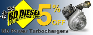 Get 5% Off BD Power Turbochargers