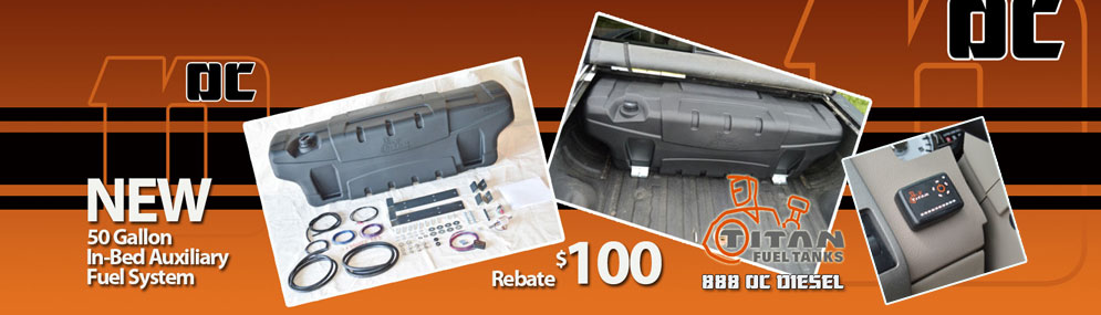 $100 Rebate Titan 50 Gallon In-Bed Fuel Tank