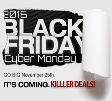 Black Friday Cyber Monday Sale 2016
