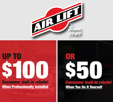 $50 to $100 AirLift Mail-In Rebate Sale