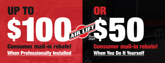 $50 to $100 AirLift Mail-In Rebate