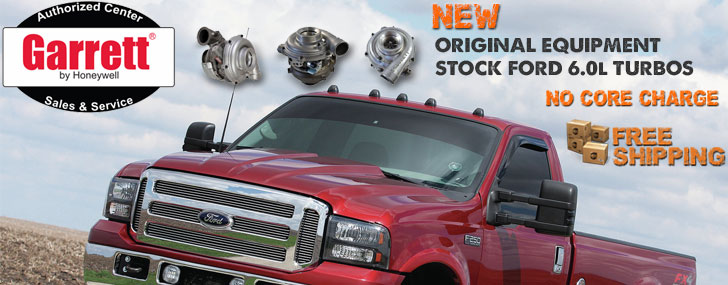 Garrett Stock Replacement Turbos for Ford 6.0L Trucks