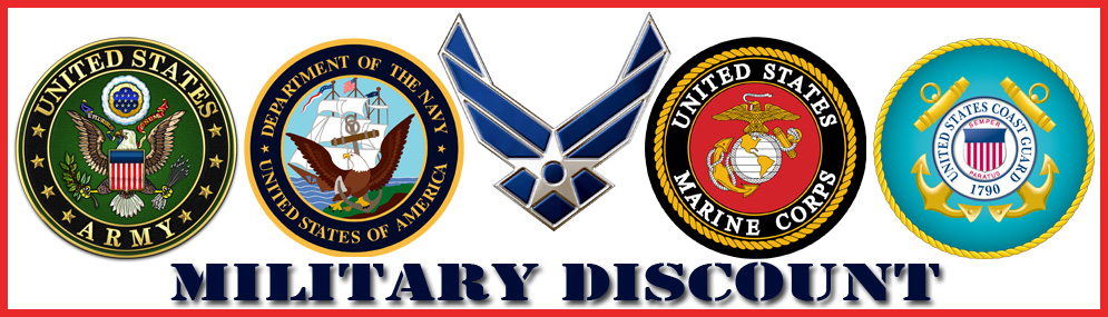 10% Off for all Military Service Men and Women