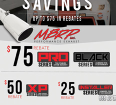 MBRP Exhaust Savings Up to $75