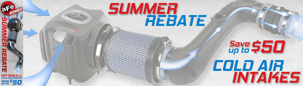 aFe Hot Summer Deals $50 Rebate